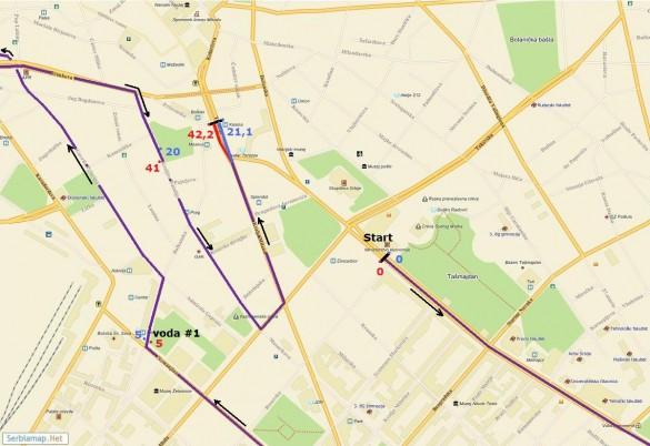 trasa01 585x402 Detaljna trasa Beogradskog maratona