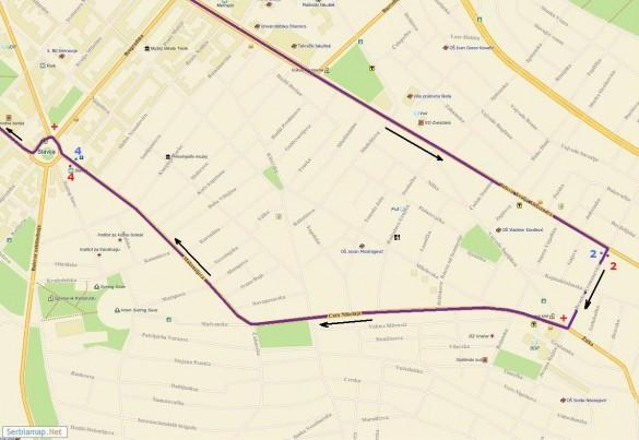 trasa02 585x403 Detaljna trasa Beogradskog maratona