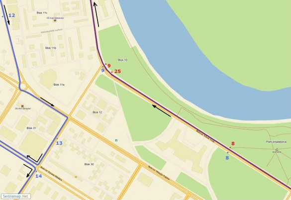 trasa05 585x402 Detaljna trasa Beogradskog maratona