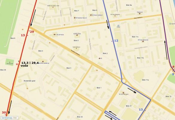 trasa06 585x402 Detaljna trasa Beogradskog maratona