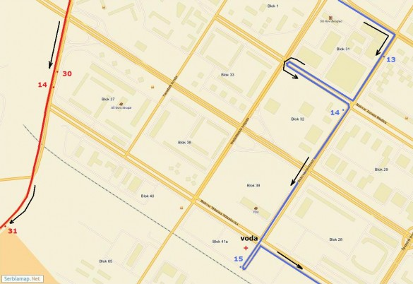 trasa08 585x402 Detaljna trasa Beogradskog maratona