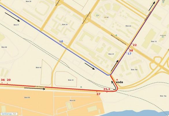 trasa09 585x402 Detaljna trasa Beogradskog maratona