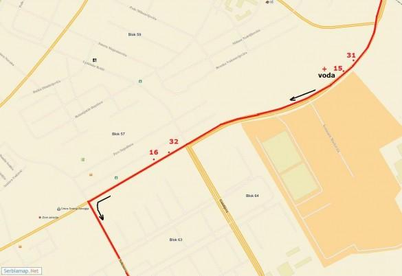 trasa10 585x402 Detaljna trasa Beogradskog maratona