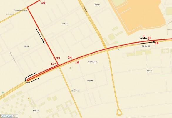 trasa11 585x401 Detaljna trasa Beogradskog maratona