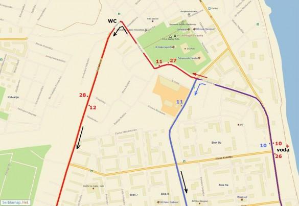 trasa7 585x403 Detaljna trasa Beogradskog maratona