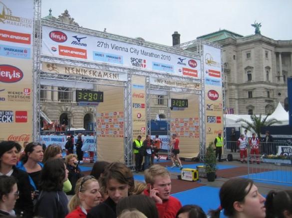 bec cilj 585x438 Bečki maraton 2010