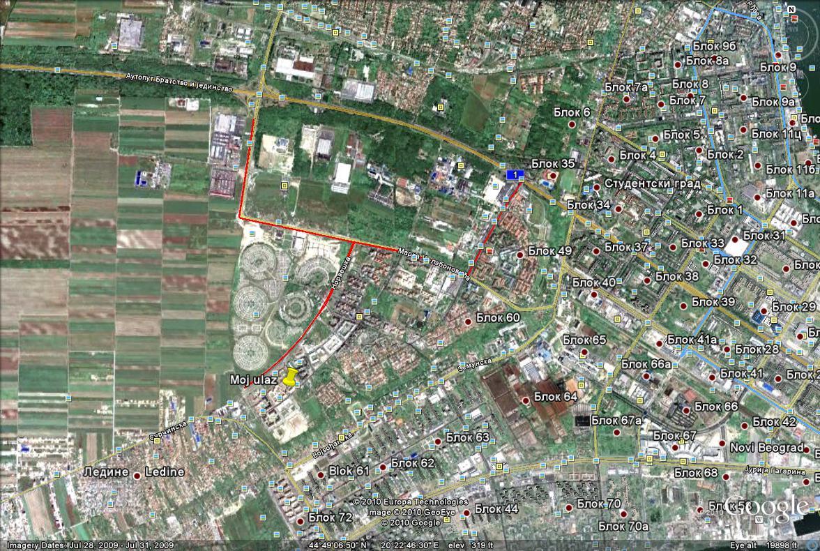 bezanijska kosa mapa Divlje staze za trčanje – Bežanijska Kosa bezanijska kosa mapa