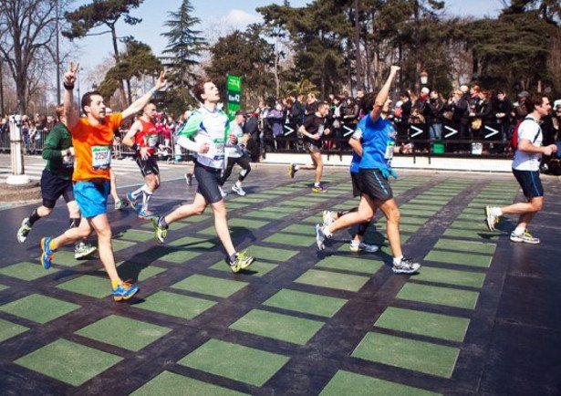 Maraton u Parizu – pločice za pretvaranje kinetičke energije u električnu