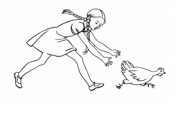 Kokoške i trčanje: povežite tačkice