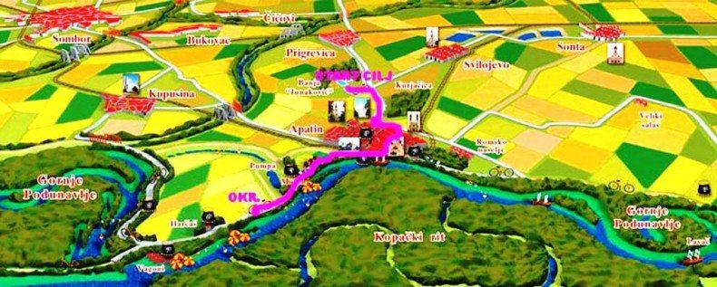 Mapa trke 790x317 18. Dunavski polumaraton u Apatinu [NAJAVA]