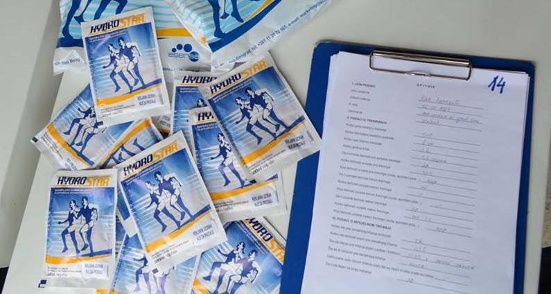 Test hidriranosti trkača – rezultati