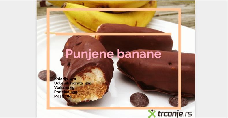 Najbolje u oktobru: Obrok posle treninga – punjena banana!
