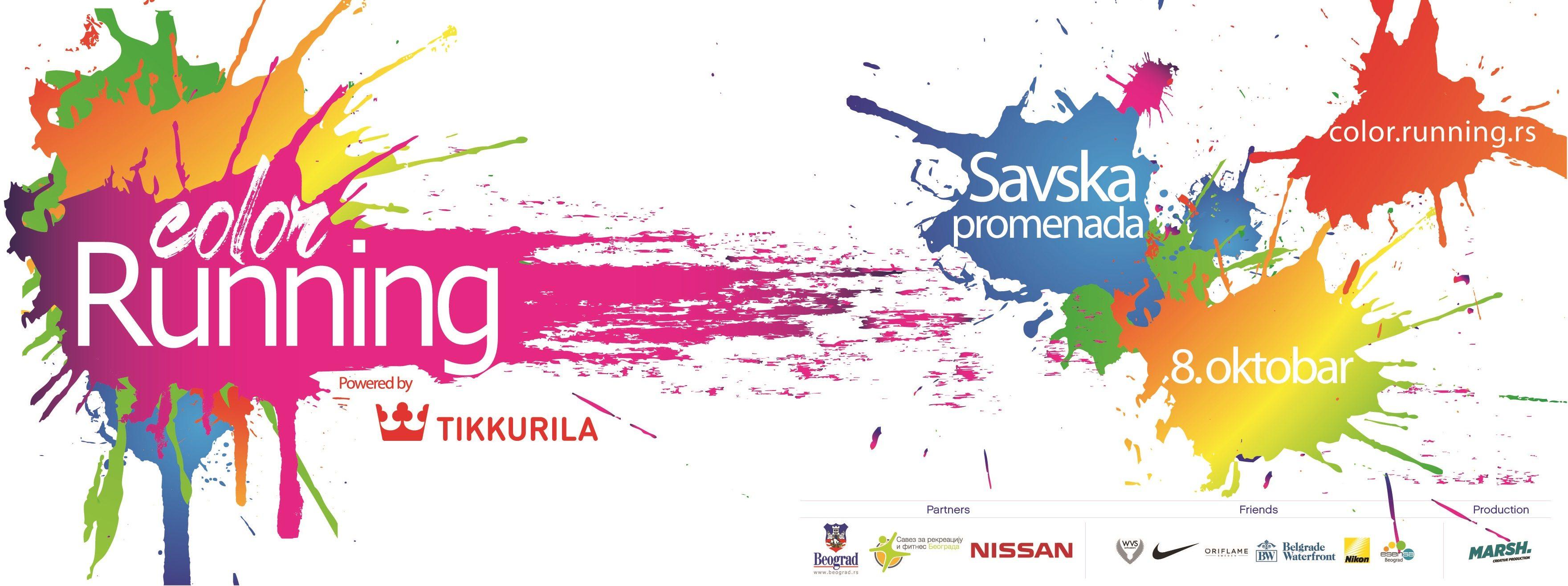 Jedna od najpopularnijih i najuzbudljivijih tematskih trka u svetu, čija je osnovna karakteristika posipanje učesnika bojama organskog porekla održaće se drugu godinu za redom u Beogradu pod nazivom Color RUNNING powered by Tikkurila.
