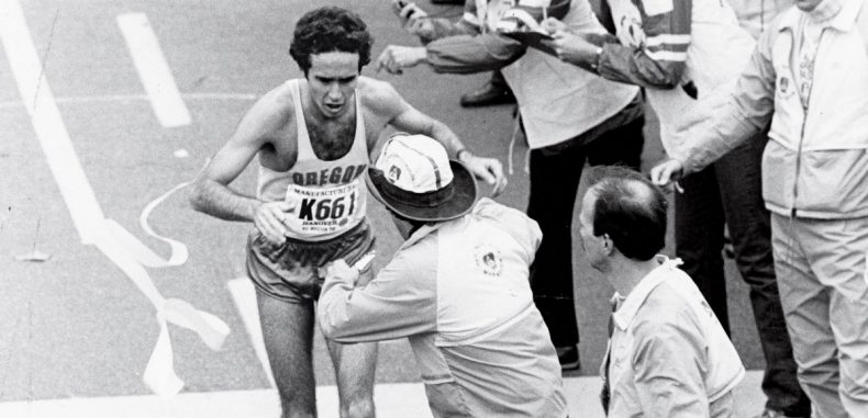 Salazar kolabira nakon pobede na Bostonskom maratonu, 1982.